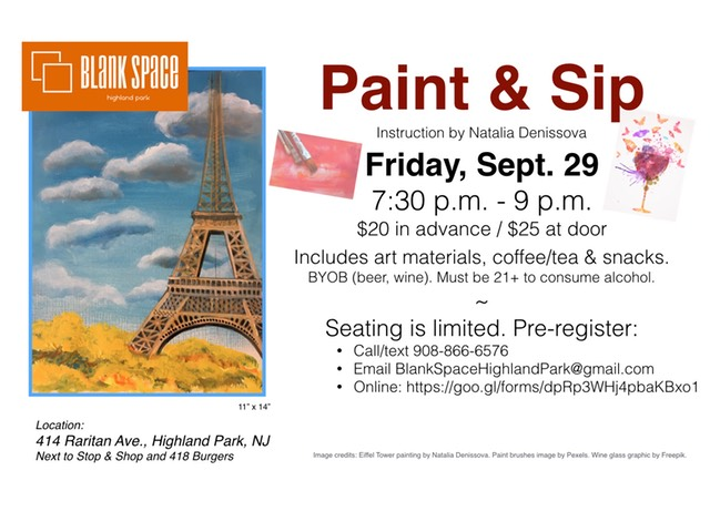 Friday Sept 29 Paint Sip
